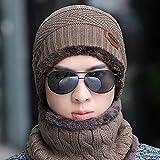 Gorro de Punto Coreano de Invierno para Hombre con Engrosamiento de Terciopelo para Mantener la cálida afluencia de jóvenes Gorra Salvaje de Baotou