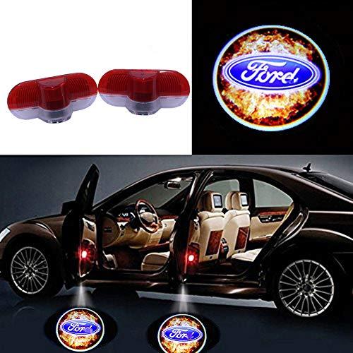 KVCH 2 Pz Porta auto LED Proiettore di luce Luci fantasma ombra Benvenuto Lampada proiettore laser di cortesia Logo Luce (fuoco)