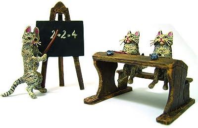School of Cats Vienna Bronze Figurine