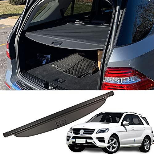 Marretoo for Mercedes Benz ML350 Cargo Cover ML Series Accessories 2012-2015 GLE 2016-2019 Black Retractable Trunk Cover