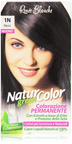 teinture pour les cheveux coloration permanent naturel natur color green1 n noir