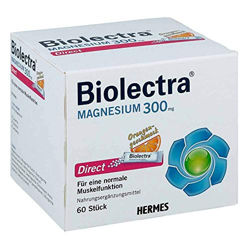 Biolectra Magnesium 300 mg direct Orangengeschmack Pellets in Sticks, 60 St. Beutel