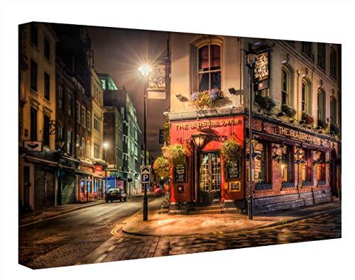 CCRETROILUMINADOS Ccretroilluminati Calle di Londra, Quadri Illuminati con Luce LED, in metacrilato, Multicolore, 60 x 80
