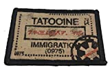 Star Wars Tatooine Passport Stamp Morale Patch. 2x3' Hook and Loop Patch. Made in The USA