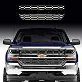 Putco Chrome Accessories - Fits 2016-18 Chevy Silverado 1500 CHROME Snap On Grille Overlay Grill Covers Inserts