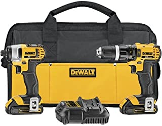DEWALT 20V MAX Impact Driver and Hammer Drill Combo Kit (DCK285C2)