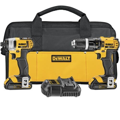 디월트 DCK285C2 20V 해머 & 임팩트 드릴 콤보 키트 DEWALT 20V MAX Impact Driver and Hammer Drill Combo Kit (DCK285C2)