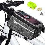 Weeygo Bolsa de Bicicleta, Bolsa de Marco de Bicicleta Bolso Impermeable del Soporte del teléfono del Tubo del Tubo Superior de la Bici para Smartphone hasta 6', Gris