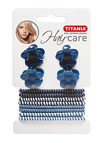Titania 8003 4 cheveux Pinces avec 8 cheveux bandes, sur carte, 1er Pack (1 x 25 g)
