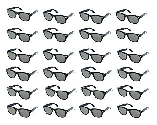 Blue Panda Party-Sonnenbrille (Set, 24 Stück) - Vintage-80er-Jahre-Retro-Stil - Party-Brille für Kindergeburtstage, Gastgeschenke - Perfekt für Junggesellinnen- oder Junggesellenabschiede - Schwarz
