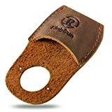 RingSun Thumb Guard Wood Carving Tools, Leather Finger Protector, Handmade Carpenter Working Carving Kit Accessories Brown RS40