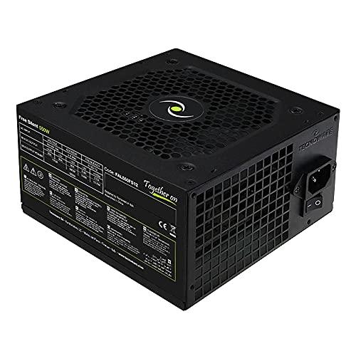 Tecnoware Alimentatore ATX 550 W per PC - Ventola Silenziosa da 12 cm - Connettori 2 x SATA, 1 x 24 Poli, 1 x 12V 4 + 4 Poli, 2 x Molex, 1 x Floppy