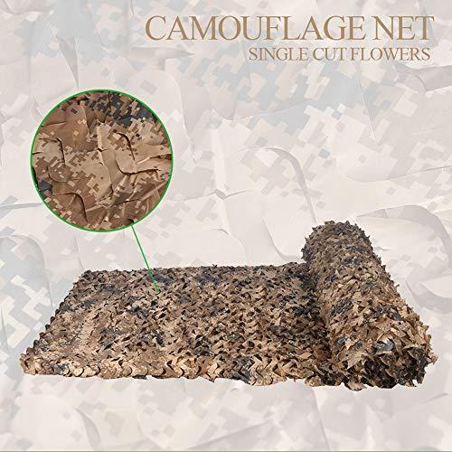 Camouflage net Mimetik Deserto militaire net, 4 x 5 m, Retina zonwering, zeer geschikt voor rolluiken/autoafdekking/hoteldecoratie, grootte kan worden gepersonaliseerd 6 * 6m