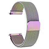 Solob 22mm Stainless Steel Magnetic Mesh Compatible for Samsung Galaxy Watch 46mm/Gear S3 Classic/Frontier/Huawei Watch 2Classic/GT/GT 2/ Quick Release Replacement Sports Straps