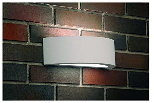 Elegante Wandleuchte in Weiß Bauhausstil E27 bis 60 Watt 230V Wandlampe aus Gips & Glas wunderbar...