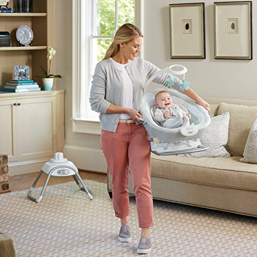 51pEzdHw06L 10 Best Portable Baby Swings on the Market 2021 Review