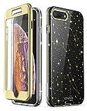 i-Blason Cosmo Glitter Clear Bumper Case for iPhone 8 Plus/iPhone 7 Plus (Black/Star)