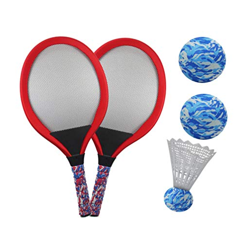 LIOOBO Juego de raquetas de tenis para niños, resistentes, raquetas de tenis...
