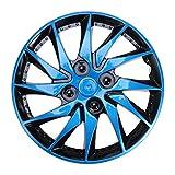 CLISPEED Enjoliveurs Enjoliveurs 14 Pouces Capuchons de Moyeu Roues Jante Couvre pour Voiture Auto Véhicule Pneu Pièces de Rechange Accessoires Bleu
