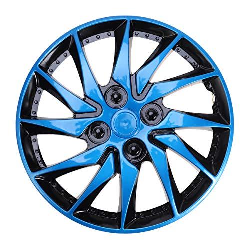 BESPORTBLE Tapacubos de Rueda de Coche Universal para Automoción Cubiertas de Rueda Azul con Emblema Automático Tapas de Centro de Cubo de Rueda para Coche Accesorio de Reparación Automática