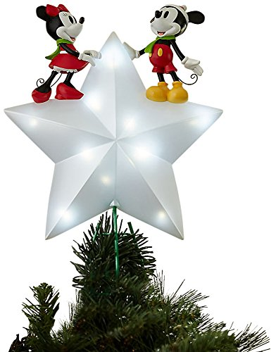 Disney Mickey and Minnie Mouse Light-Up Tree Topper by Disney