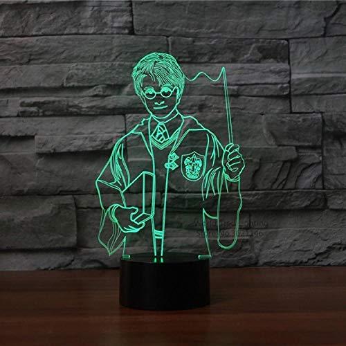 Film de télécommande coloré veilleuse 3D lampe de table chambre à coucher pour enfants périphérique à LED Harry Potter