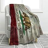 Flanell Decke Werfen 200X150cm,Super weich & bequem Warm Anti Pilling Decke,Leichte Decke für klimatisierte Zimmer,Liegen,Wohnzimmer,Schlafzimmer,Flugzeuge (Kalifornische Flagge)