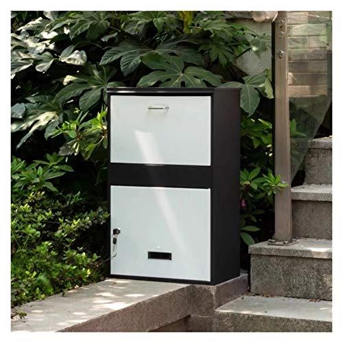 HWF Briefkasten Groß Paketversand Paketpost Dropbox für Außenveranda, Freistehend Paket abschließbare Postfächer, Passend für mittlere Pakete und kleine Pakete