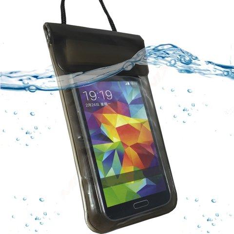MOELECTRONIX Wasserdicht SCHWARZ Strand Tasche Beach Bag Schutz Hülle Etui Case passend für Siswoo Cooper i7