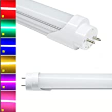 T8 LED Tube Lamp Light ,120 cm 4ft 18W , Frosted Cover, LED Bulb , Longer Life Hours, Super Bright, Power Saving, 6 Colors Available ( Yellow /Red / Green / Purple / Blue / Pink ) - 15pcs