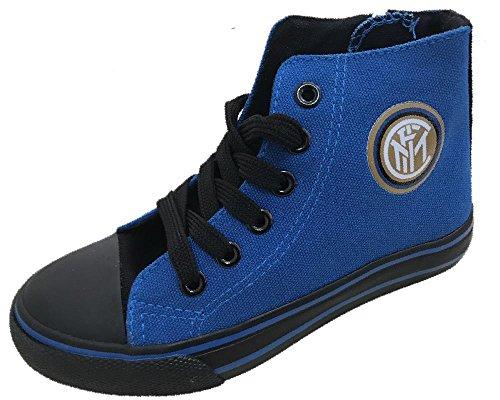 ARNETTA Inter Soccer buty sportowe do gimnastyki, dla dzieci, FC Internationale, niebieski - niebieski - 30 EU
