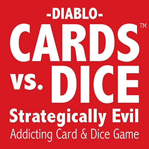 CARDS vs. DICE - Strategically Evil - A card game for kids, teens, and adults.