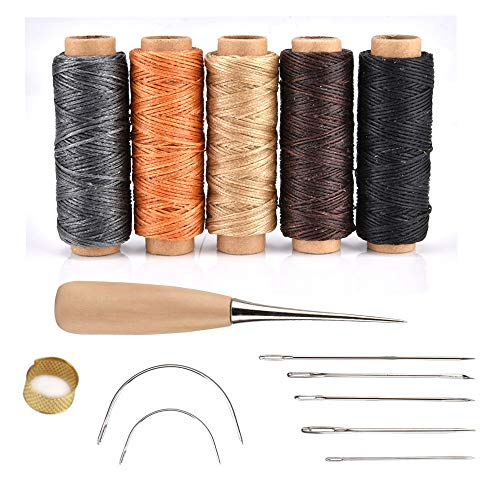 Juego 14 agujas coser cuero encerado herramientas