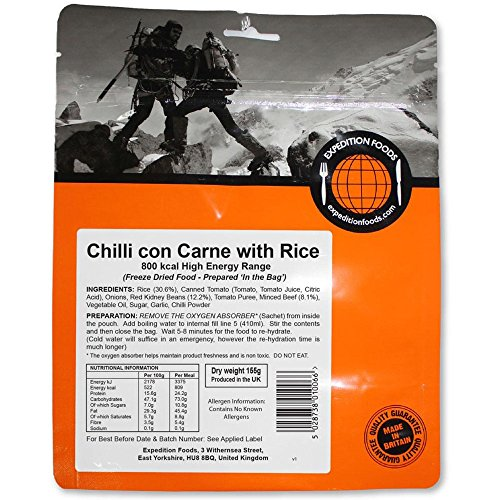 Expedition Foods Chilli Con Carne mit Reis (High Energy Serving)
