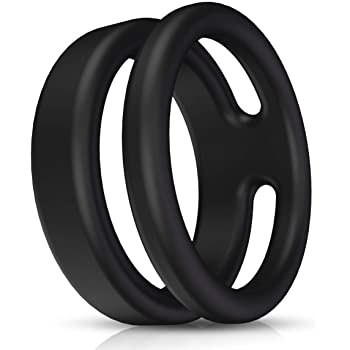 Silicone Dual Penis Ring, Premium Stretchy Longer Harder Stronger Erection Cock Ring Erection Enhancing Sex Toy for Man or Couples Play