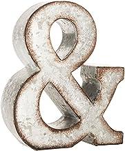 Galvanized Metal 3D Wall Letter Block Monogram Ampersand Wedding Engagement Decor
