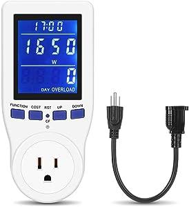 Plug-in Kilowatt Electricity Usage Monitor Electrical Power Consumption Watt Meter Tester