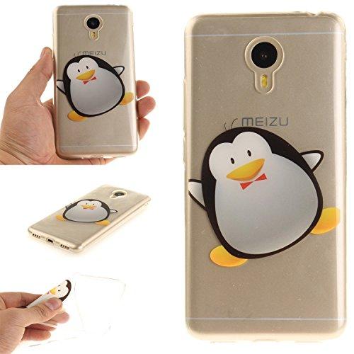 Ycloud Funda Meizu M3 Note/Note 3 TPU Caparazón Protector Diseño pequeño Estilo Silicona Carcasa Case Cover - Pingüino de Dibujos Animados