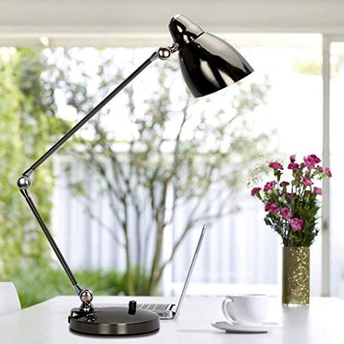 ZHANGYY Lámpara de Mesa de Oficina de Negocios Lámpara de Escritorio de Escritorio de Libro Plegable de Brazo Largo Niños Que aprenden Lámparas de protección Ocular LED (Color: Negro)