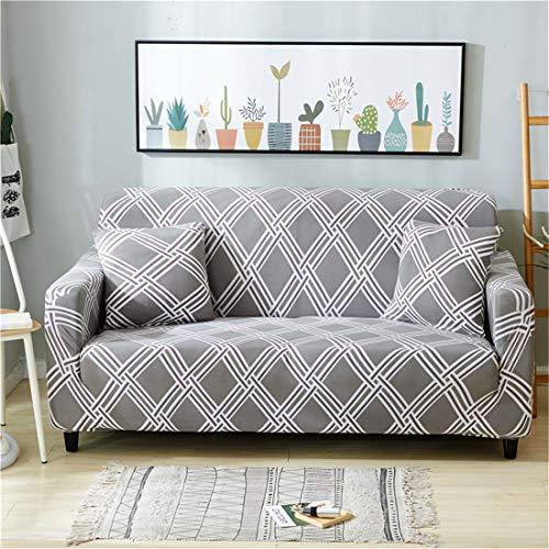 Funda de sofá elástica geométrica para sala de estar, funda de sofá moderna, funda protectora para sillón, 3 plazas