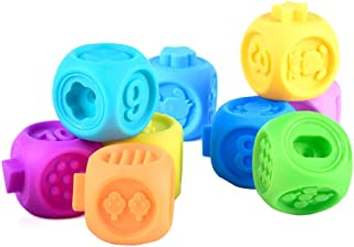 Baby Balls Baby Hand Grasping and Biting Building Blocks 6 Month Old Baby Toy Activity Ball Toy 10pcs Toddlers Children 6+...