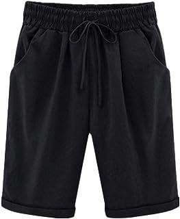ShallGood Pantalones Cortos Mujer Básicos Color Sólido