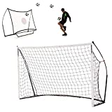 QUICKPLAY Kickster 2in1 Soccer Goal and Rebounder 8x5'