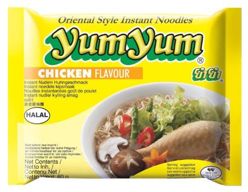 10er Pack YUM YUM [10x 60g] Instantnudeln, Hühnchen-Geschmack