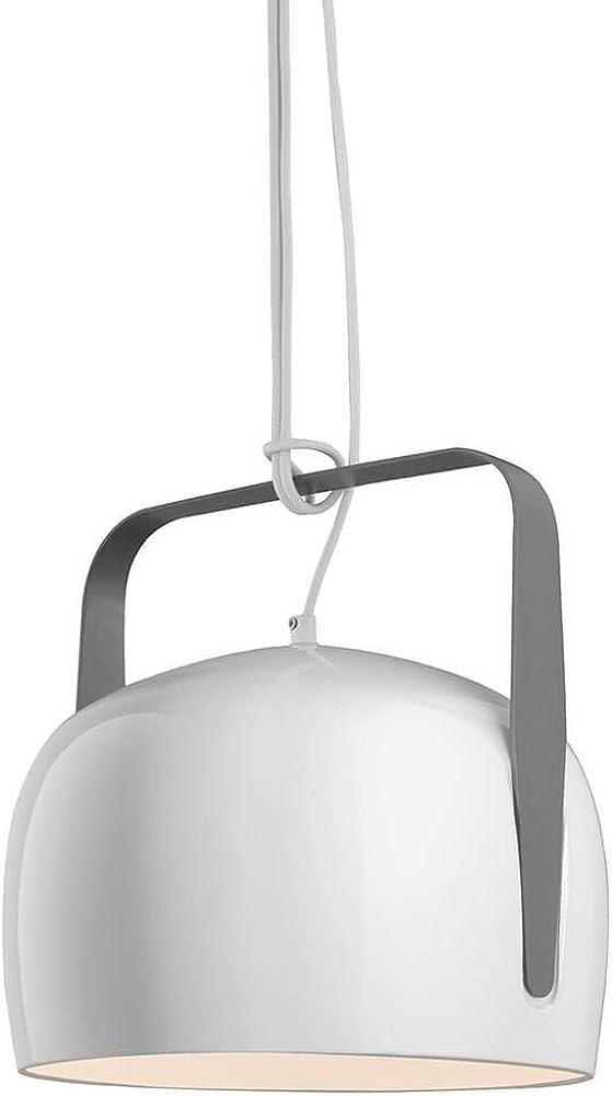 Karman bag, lampada a sospensione Ø32 cm,in  ceramica liscia bianca, lucida