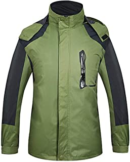 FidgetGear Outdoor Fishing Clothing for Men Women Autumn Winter Waterproof Warm Jackets Patchwork Hooded Mountaineering Suits Men's Army Green XL