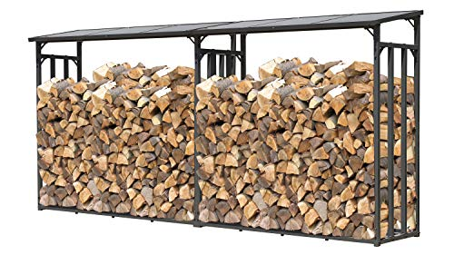 GRASEKAMP Qualität seit 1972 2 Stück Kaminholz Lager 200 x 70 x 195 cm mit Doppelstegplatten Regal Stapelhilfe Aussen