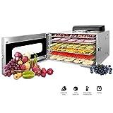 Novhome Deshidratador de Alimentos Acero Inoxidable 6 bandejas Deshidratador Frutas y Verduras...