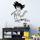 Diseño De Arte Dragon Ball Etiqueta De La Pared De Vinilo Animado Kid Goku 3D Película De Dibujos Animados Decoración Para El Hogar Diy Calcomanía De Pared Para Niños 68 * 76 Cm