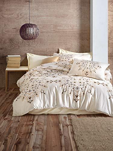 Cotton Box Colección de Ropa de Cama: 2 Fundas de Almohada 80X80 Cm Cada y 200X220 Cm Funda Edredón, Satín - Diseñado y Fabricado en Turquía